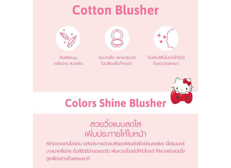02 Cathy Doll บลัชออน Hello Kitty Cotton Shine Blusher 6.5 กรัม