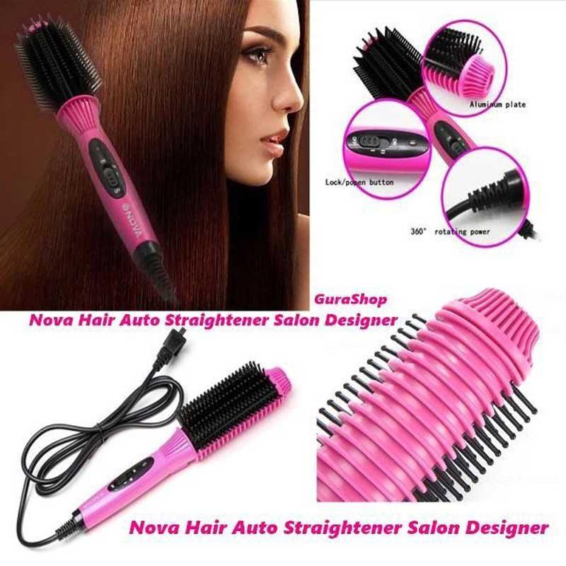 03 Babarah Shop หวีวอลุ่ม Nova Hair Auto Straightener Salon Designer รุ่น NHC-8810