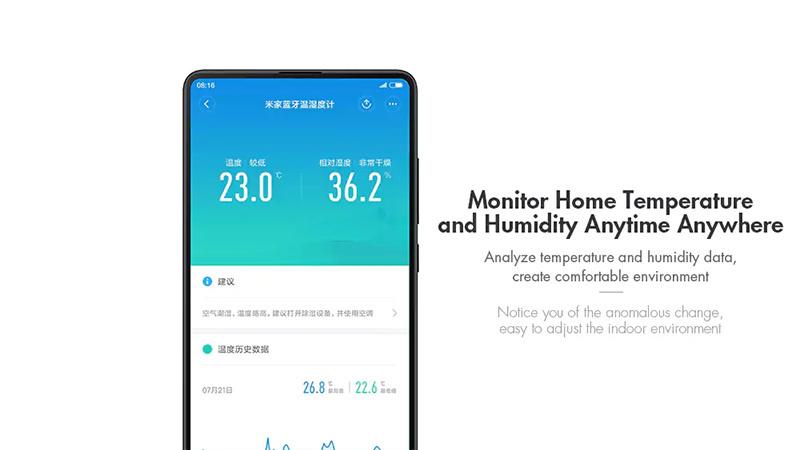 Xiaomi เครื่องวัดอุณหภูมิ และ ความชื้น