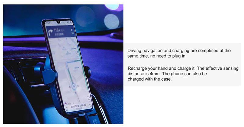 Xiaomi ที่วางโทรศัพท์ในรถ แบบออโต้ล็อค พร้อมชาร์จไร้สาย 20W
