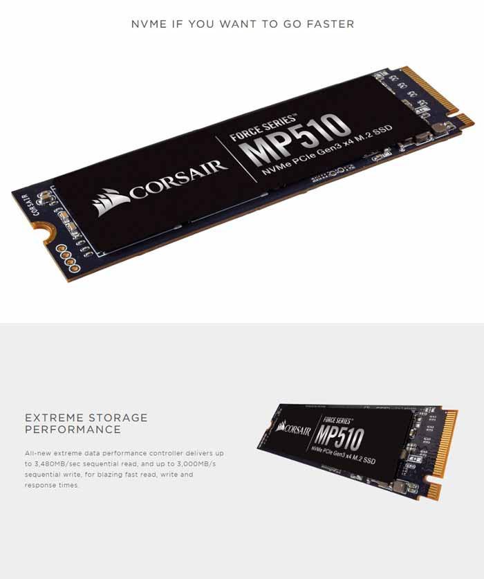 Corsair SSD รุ่น MP510 M.2 960 GB
