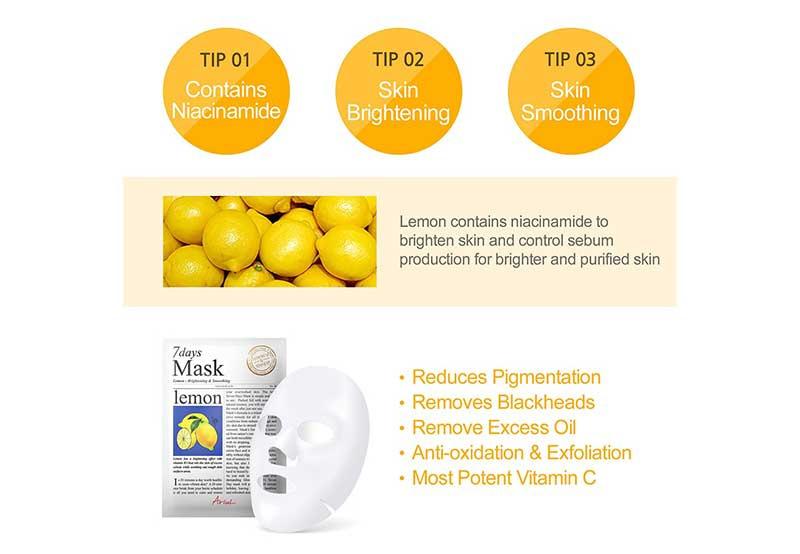 02 Ariul 7 Days Mask Lemon (Pack2)