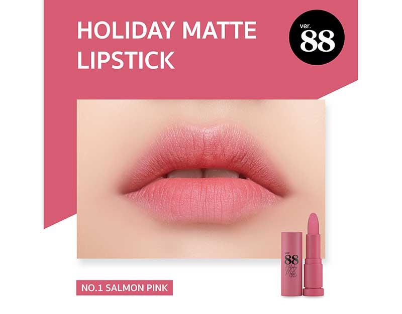 01 Ver.88 ลิปสติก Holiday Matte Lipstick 2 กรัม