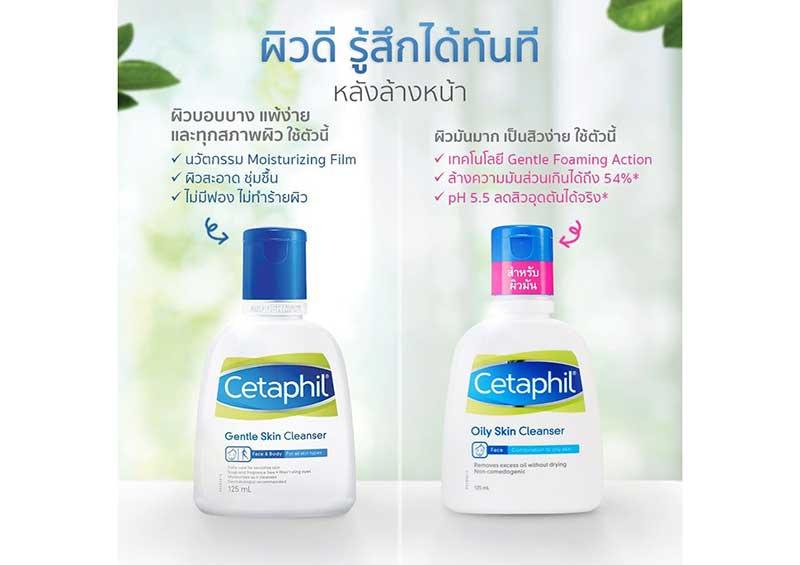 04 Cetaphil ผลิตภัณฑ์ทำความสะอาดผิวหน้า Oily Skin Cleanser 29 มล. (แพ็ค3)