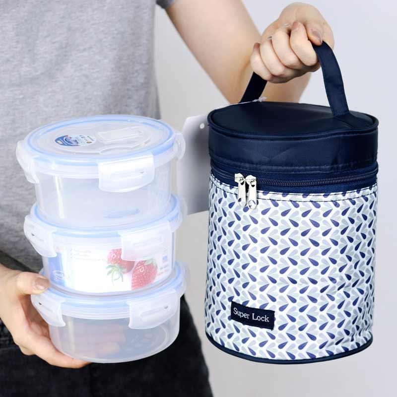 Super Lock กล่องอาหาร+กระเป๋า รุ่น CCC (3 กล่อง)
