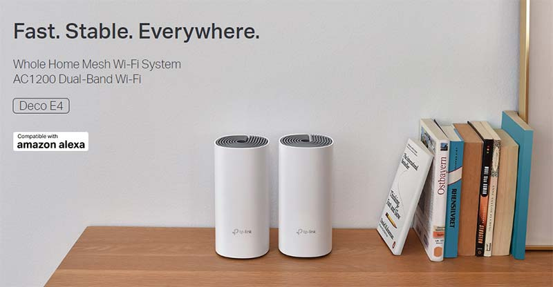 TP-Link ระบบ Wi-Fi อัจฉริยะ Deco E4(2-Pack) AC1200 Whole Home Mesh Wi-Fi System