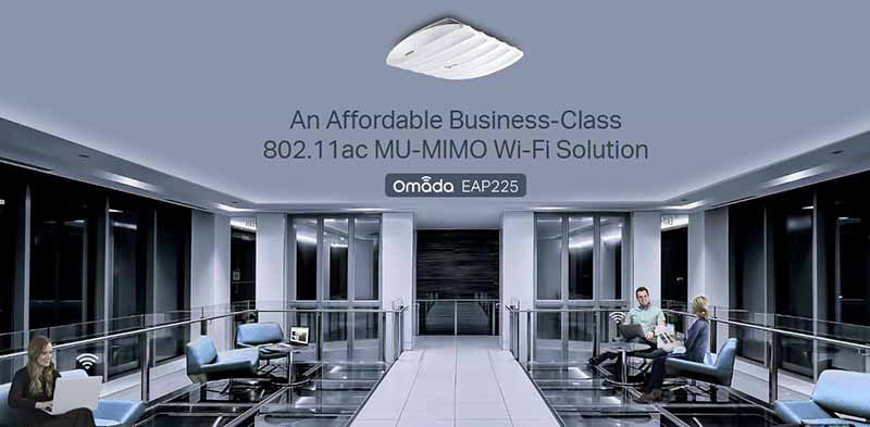 TP-Link อุปกรณ์กระจายสัญญาณ Wi-Fi  EAP225 AC1350 Wireless MU-MIMO Gigabit Ceiling Mount Access Point
