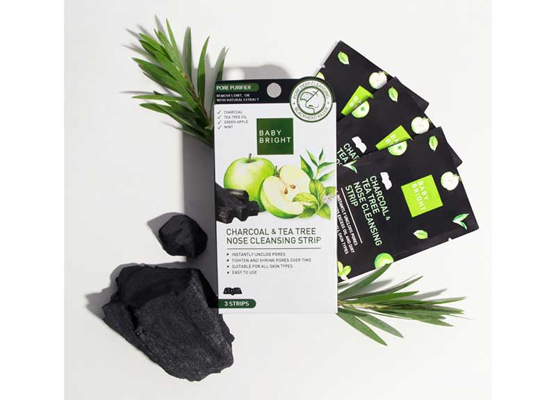01 Baby Bright Charcoal & Tea Tree Nose Cleansing Strip 3 Sheets