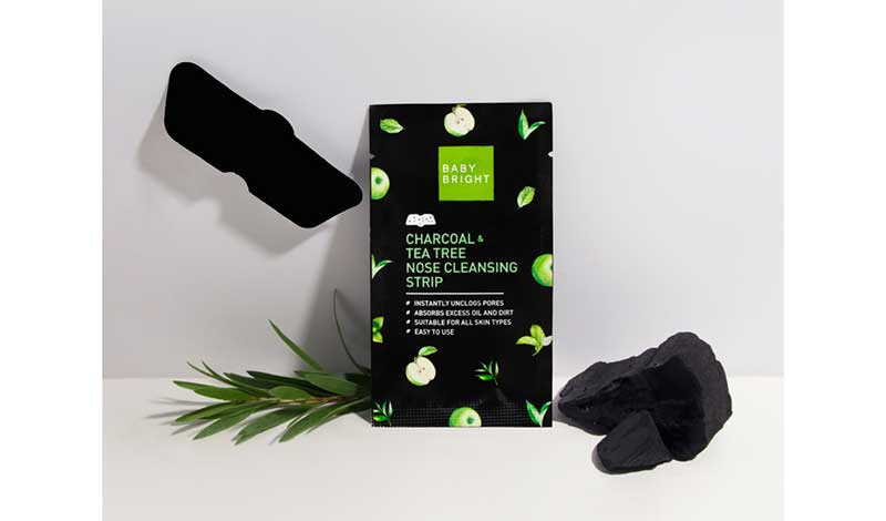02 Baby Bright Charcoal & Tea Tree Nose Cleansing Strip 3 Sheets