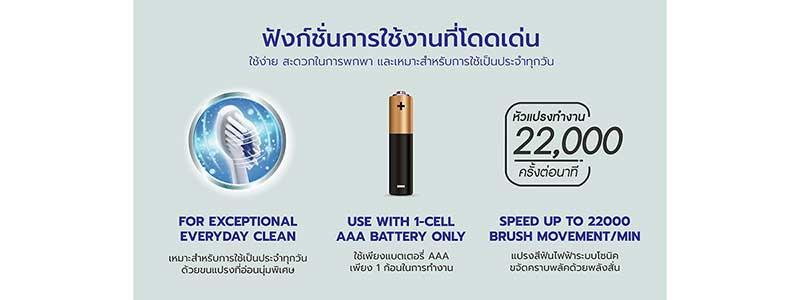 05 Sparkle Sonic แปรงสีฟันไฟฟ้า Toothbrush รุ่น Daily White Plus รุ่น SK0374