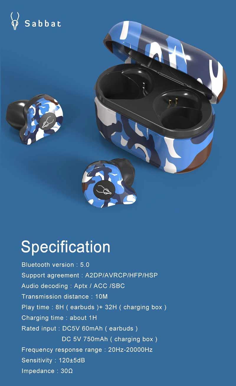 Sabbat หูฟังบลูทูธแบบ True Wireless รุ่น X12 Ultra