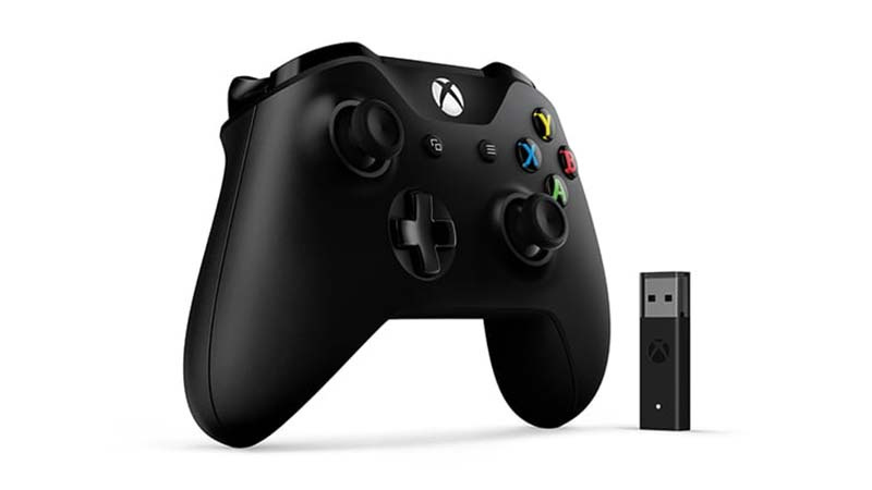 Microsoft อุปกรณ์บังคับ Xbox Controller + Wireless Adapter for Windows 10