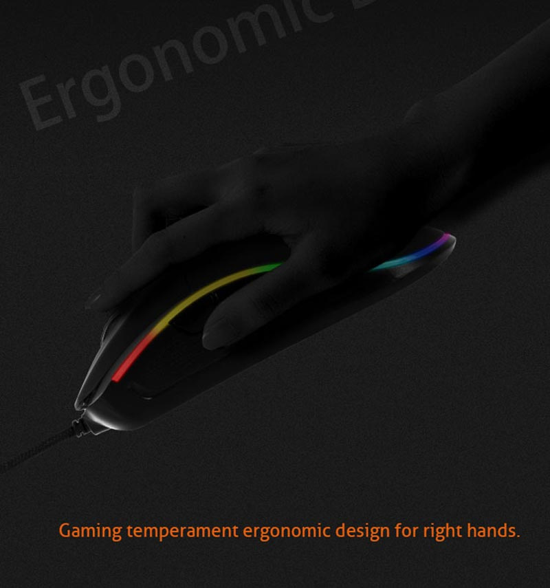 Meetion เม้าส์เกม Chromatic Gaming Mouse GM20