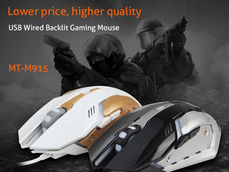 Meetion เม้าส์เกม Cheap PC Backlit Gamer Mouse M915