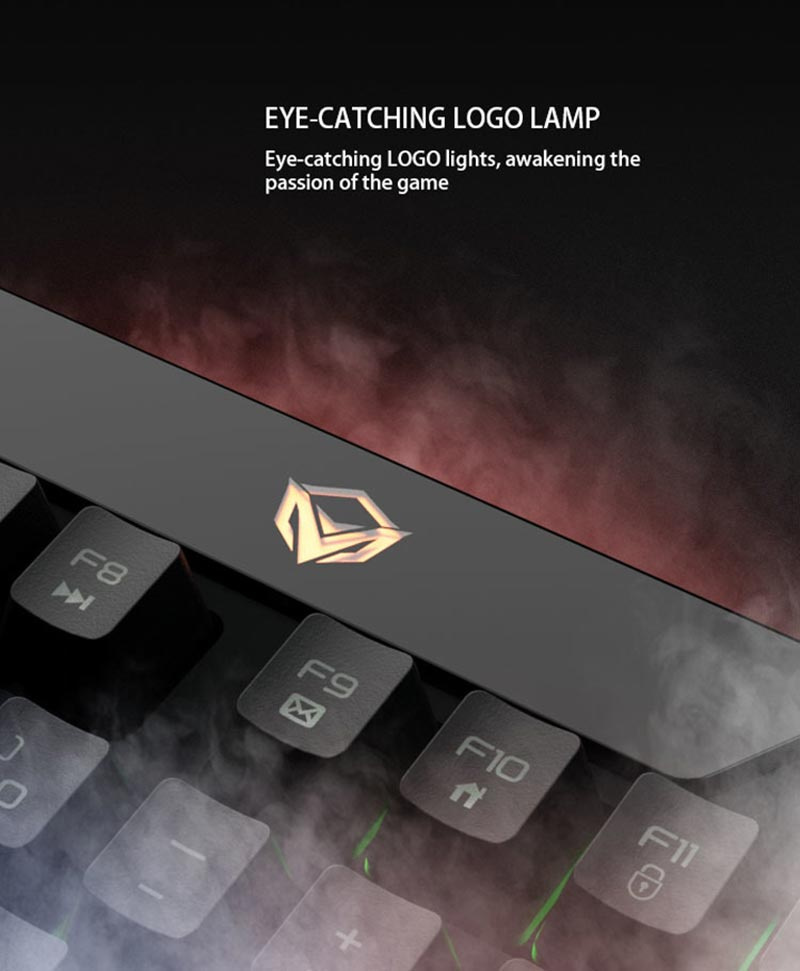 Meetion คีย์บอร์ดเกม Custom Macro Pro Membrane Gaming Keyboard K9420