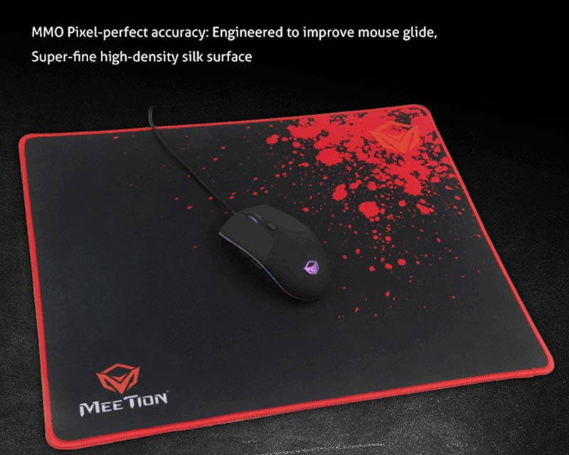 Meetion แผ่นรองเม้าส์เกม Non-slip Rubber Square Mouse Pad P110