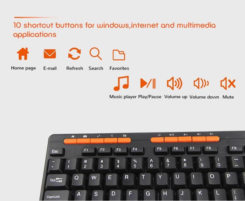 Meetion คีย์บอร์ด USB Multimedia Keyboard K600M