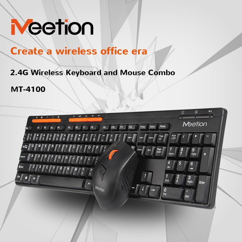 Meetion ชุดเม้าส์ คีย์บอร์ดไร้สาย Desktop Wireless Combo Set 4100
