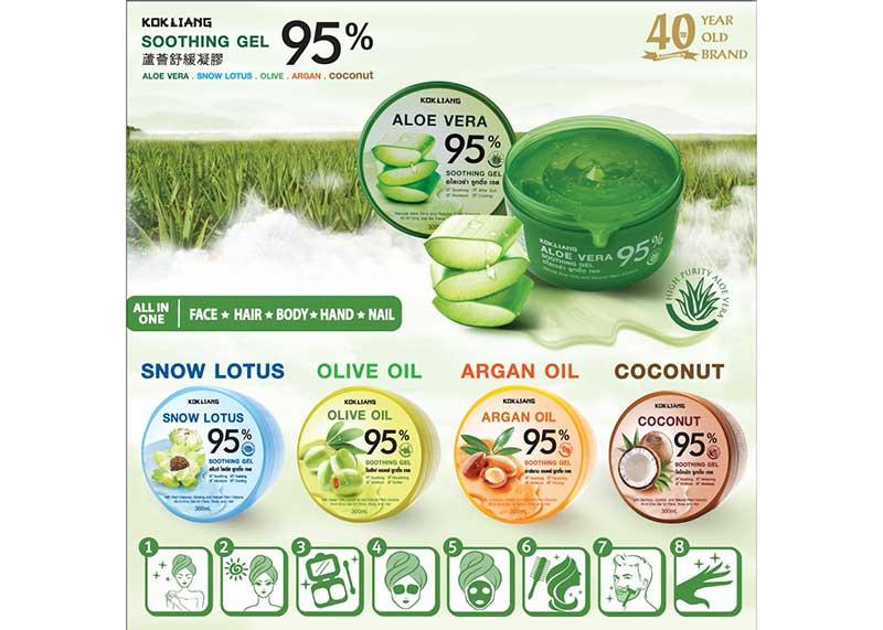 01 Kokliang Aloe Vera Soothing Gel 95% 300 ml