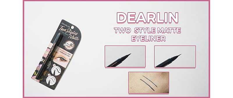 01 Dearlin อายไลเนอร์ Two Styles Matte Eyeliner #01 Black