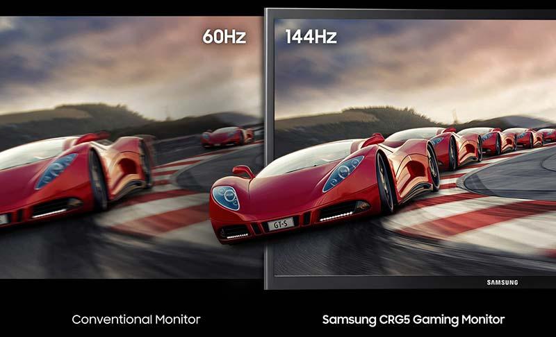 Samsung จอคอมพิวเตอร์ 23.5 นิ้ว Gaming Curved Monitor CRG50 (LC24RG50FQEXXT)