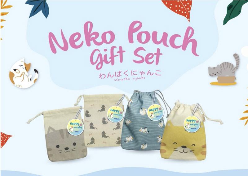 Double A Gift Set ชุดเครื่องเขียน Neko Pouch