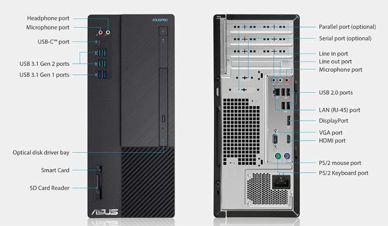 Asus คอมพิวเตอร์ PRO Business Desktops PF01P3-M09650 Black | ShopAt24.com