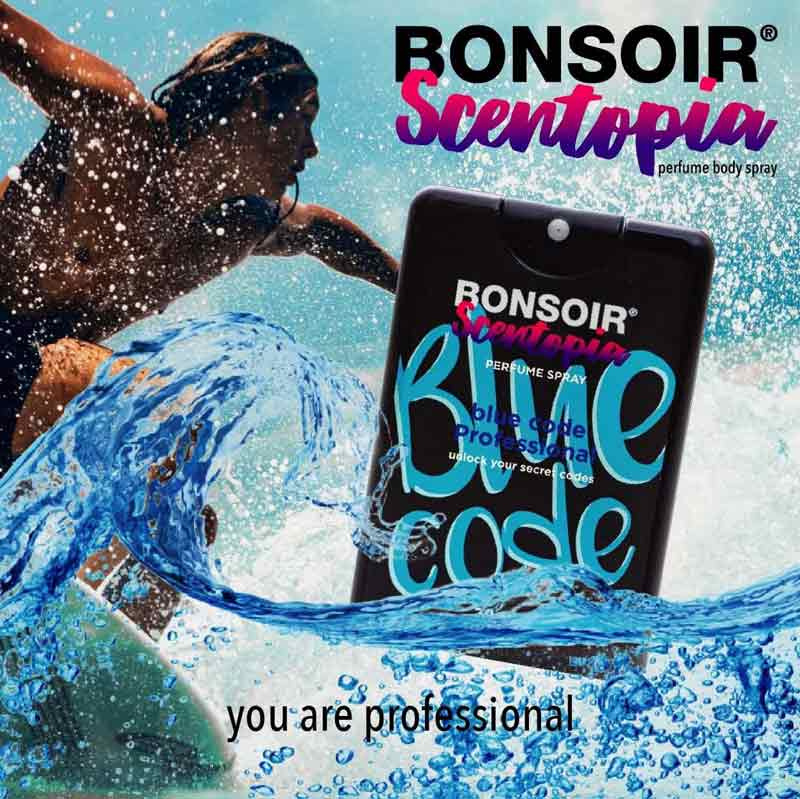 01 BONSOIR BLUE CODE PERFUME SPRAY 20 ml