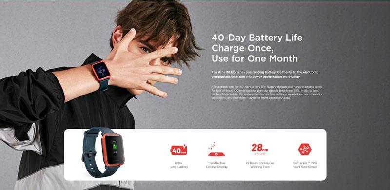 Xiaomi Amazfit นาฬิกาอัจฉริยะ รุ่น Bip S