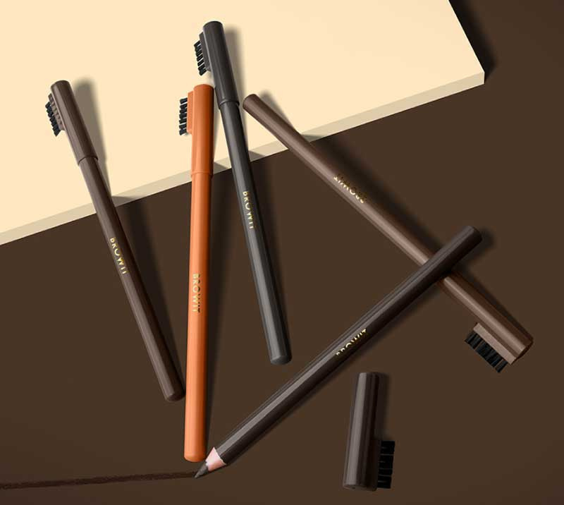 05 Browit ดินสอเขียนคิ้ว Sharpen Brow Pencil #Hot Cocoa Brown 1.14 กรัม