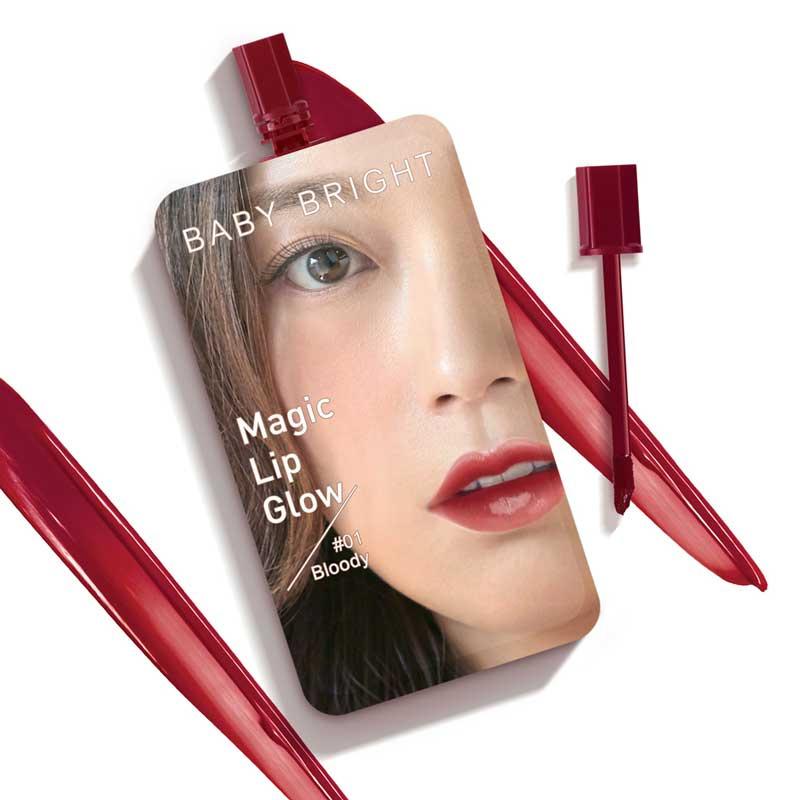 01 Baby Bright Magic Lip Glow #01 Bloody 2g (แพ็ก 6 ชิ้น)