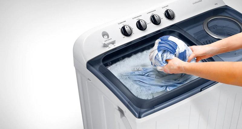 SAMSUNG เครื่องซักผ้า 2 ถัง 12 กิโลกรัม รุ่น WT12J4200MB/ST