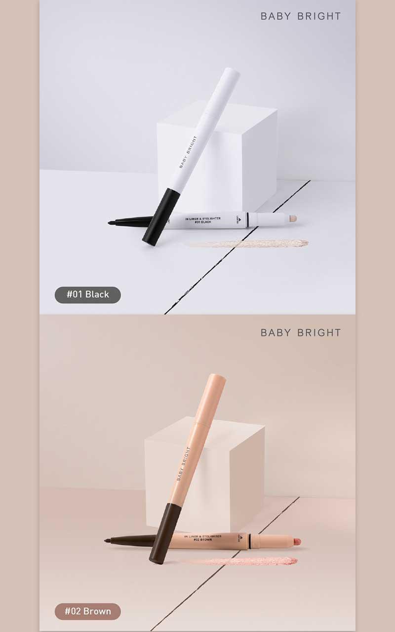 01 Baby Bright In Liner & Eyelighter 0.2 g + 0.5 g #01 Black