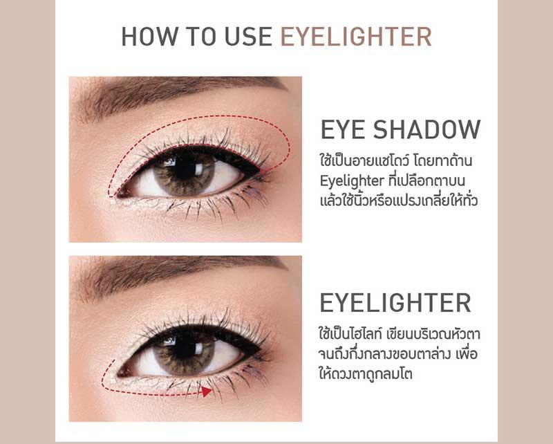 03 Baby Bright In Liner & Eyelighter 0.2 g + 0.5 g #02 Brown