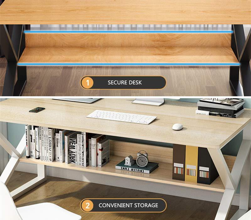 TS Modern Living โต๊ะทำงานไม้ ขนาด 100*48 ซม.รุ่น TA0001BE