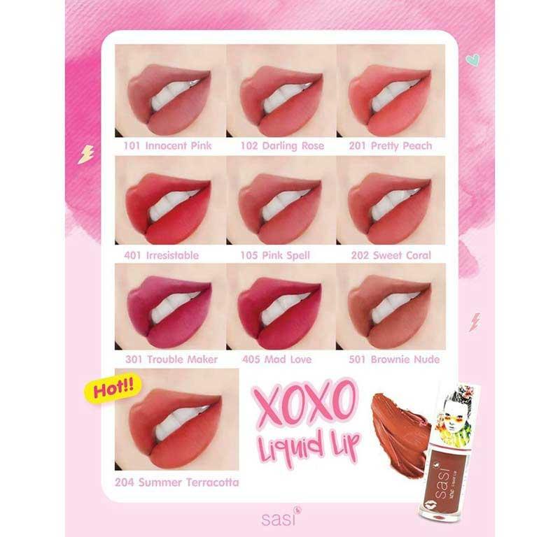 03 SASI XOXO Liquid Lip #405 Mad Love