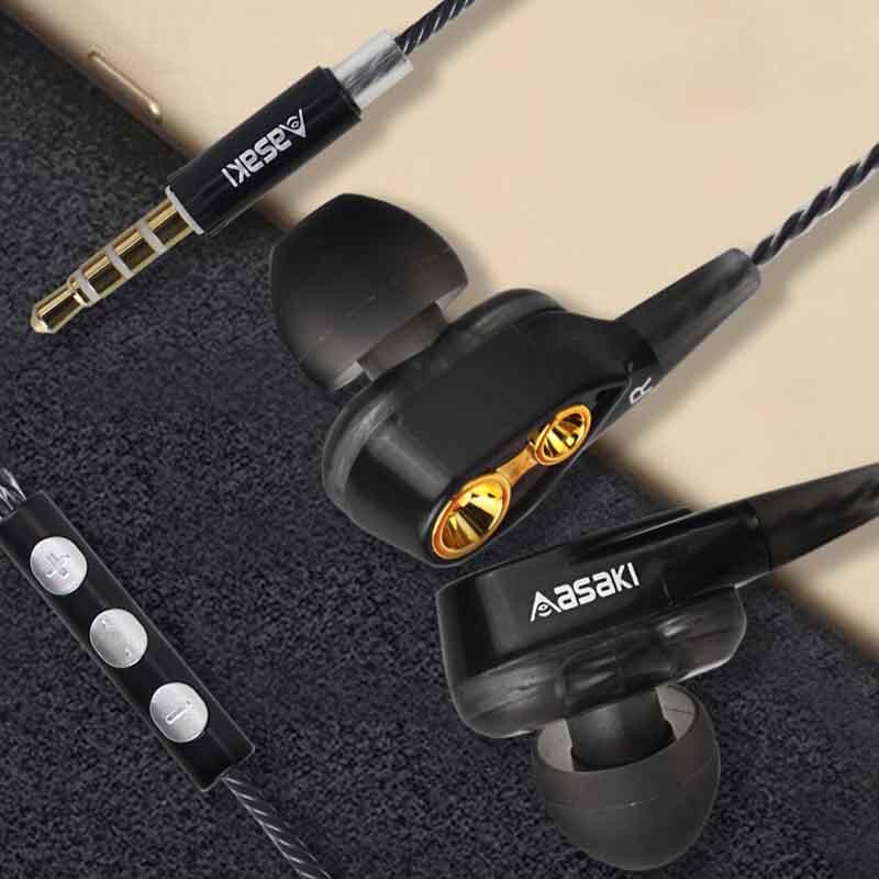 Asaki หูฟังอินเอียร์ 2 Driver รุ่น A-K7411MP