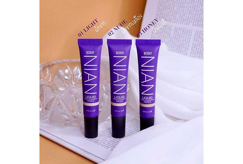 03 Deesay Nian Liquid Primer & Foundation No.3 Honey Free alcohol spray 50 ml