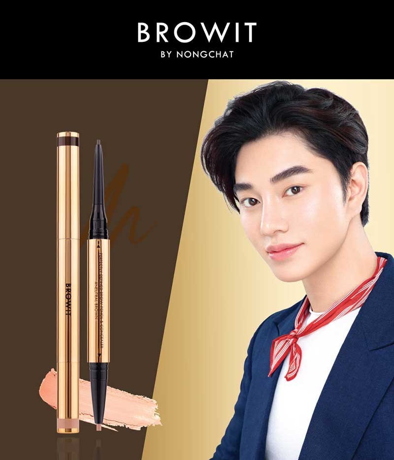 01 Browit Perfectly Defined Brow Pencil & Concealer #Neutral Brown