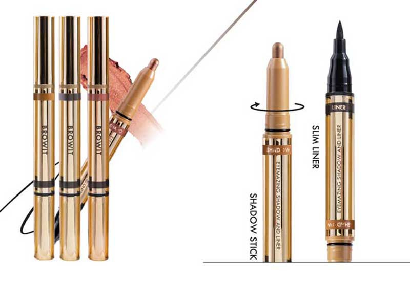 05 Browit Eyemazing Shadow and Liner #Drama Brown