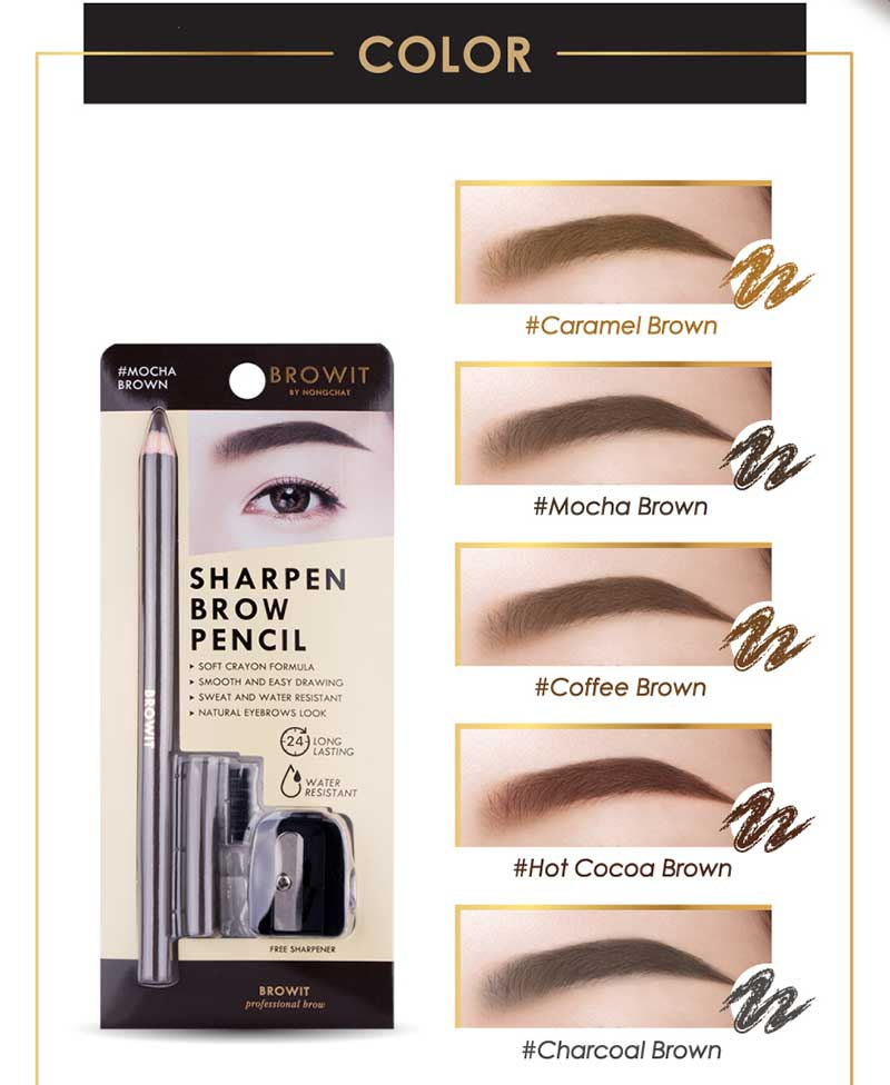 03 Browit Sharpen Brow Pencil #Caramel Brown