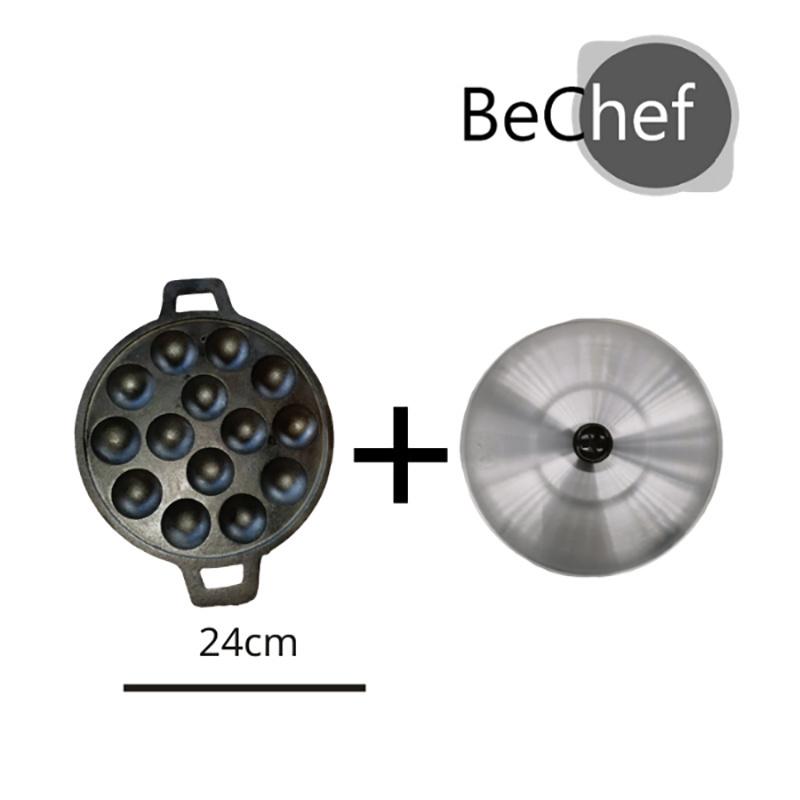 Bechaf พิมพ์กระทะขนมครก 14 หลุม แบบมีฝาเปิด