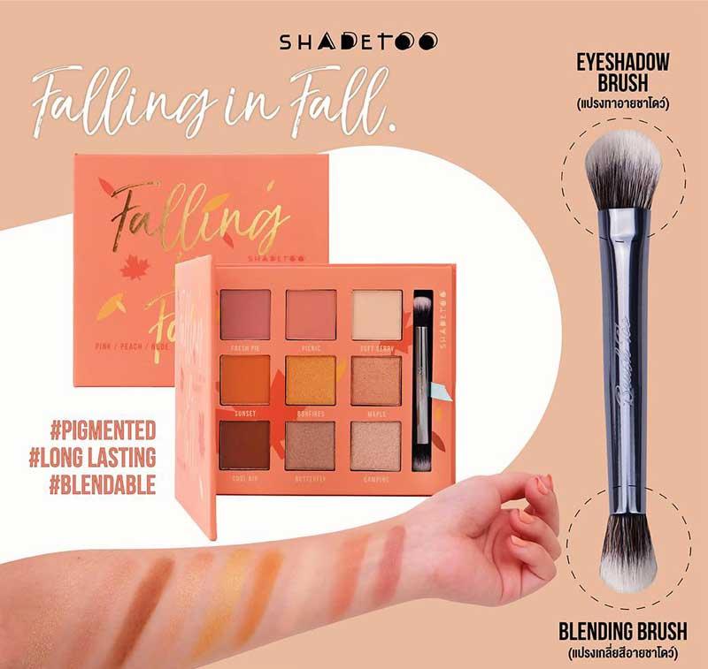 02 BrushToo อายชาโดว์พาเลท 9 Color eyeshadow palette Falling in fall
