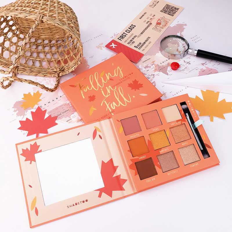 03 BrushToo อายชาโดว์พาเลท 9 Color eyeshadow palette Falling in fall