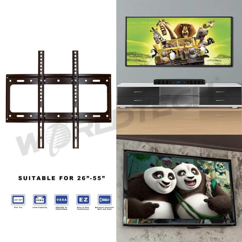 Worldtech ชุดขาแขวนทีวี สำหรับทีวีขนาด 26 - 55 นิ้ว ใช้ได้กับทีวีทุกรุ่นทุกยี่ห้อ