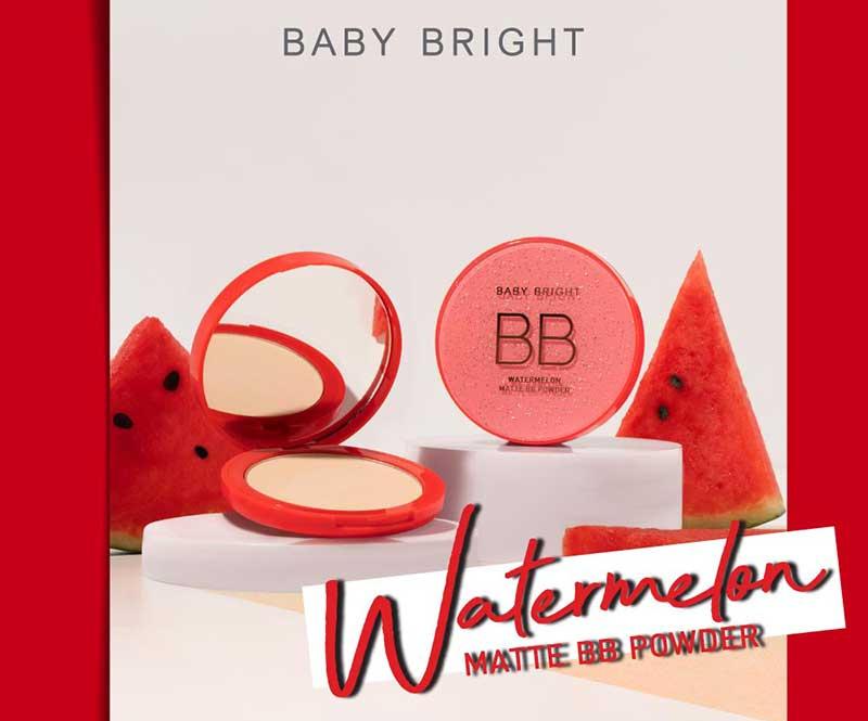 01 Baby Bright แป้งบีบีอัดแข็ง Watermelon Matte BB Powder 9 กรัม #23 Natural Beige