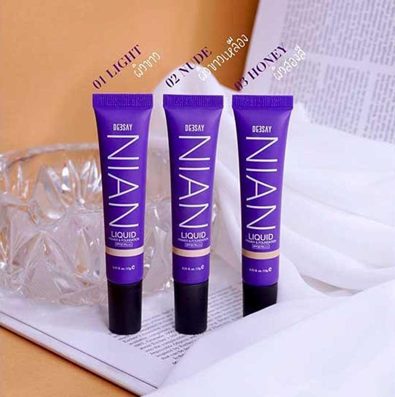 07 Deesay Bright Skin Color control Foundation powder + Liquid Primer & Foundation