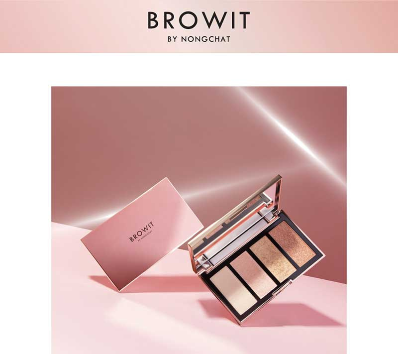 01 Browit ไฮไลท์พาเลท Show Glow Highlighter Palette