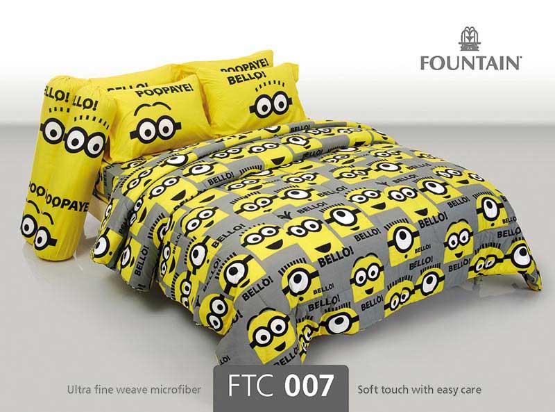 ชุดผ้าปูผ้านวม Fountain ขนาด 5 ฟุต ลายมินเนี่ยน รุ่น FTC007