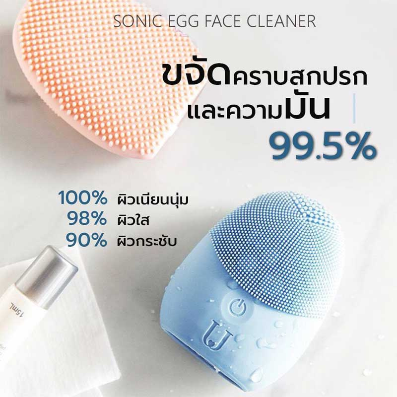 02 CBG Devices Sonic Egg Face Cleaner (Blue)